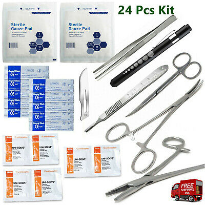 $14.50 • Buy Military Surgical Suture Kit, Suture Set With Scalpel, 24 Piece Kit