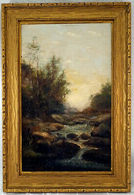 £72.71 • Buy Oil Painting On Board Stream In Valley Artist Signed But We Cant Make It Out