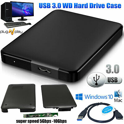 £5.72 • Buy USB 3.0 To SATA 2.5  Inch HDD SSD External Hard Drive Enclosure Case Caddy WD
