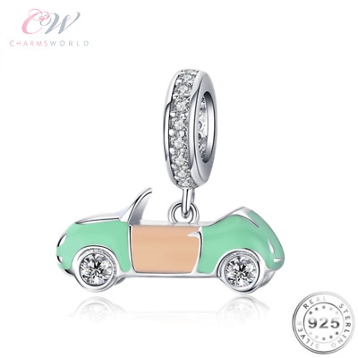 £17.49 • Buy Car Charm Genuine 925 Sterling Silver Pink 💞 Passed Driving Test / New Car Gift