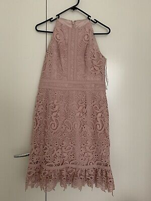 AU30 • Buy Forever New Dress Size 10 Dirty Pink Lace