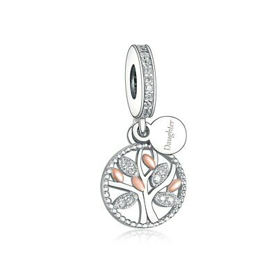 AU26.99 • Buy S925 Silver & Rose Gold Family Heritage Tree DAUGHTER Charm By YOUnique Designs