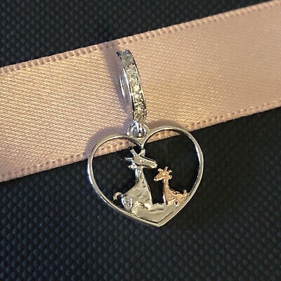 AU26.99 • Buy S925 Silver & Rose Gold Mother & Baby Giraffe Family Charm By YOUnique Designs