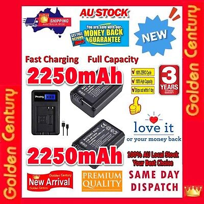 AU48.95 • Buy 2x 2250mAh NP-FW50 Battery + LCD1 Charger For Sony A6000 A6300 A6500 A5000 A3000