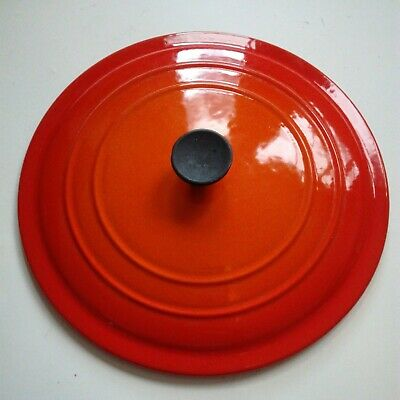 £24 • Buy Le Creuset 24 Cm Casserole Lid Only Volcanic Orange Used Good Condition