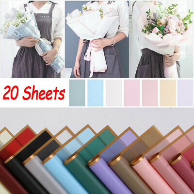 £6.89 • Buy 20 Sheets Flower Gift Wrapping Paper Florist Wedding Bouquet DIY Packaging Decor