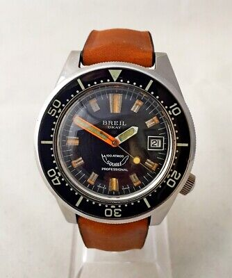 $ CDN4885.97 • Buy Squale For Breil Vintage Okay 100 Atm Military Assigned Serviced - 1 Yw!