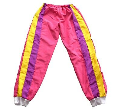 £9.99 • Buy Mens Vintage 80s Pink Striped Shell Suit Bottoms Retro 28 W / 31 L