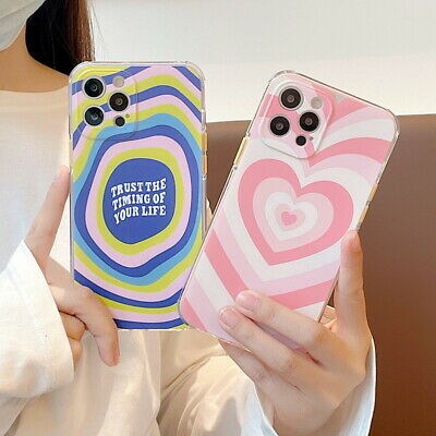 AU5.59 • Buy For IPhone 12 Pro Max 11 XS XR 8 7 Plus Cute Love Heart Silicone Back Phone Case