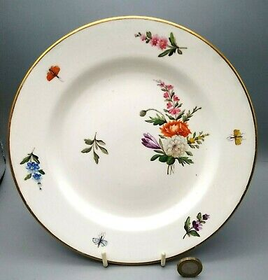 £38 • Buy Antique English Pottery Pearlware Staffordshire Flower Painted Plate Patt.1760 #