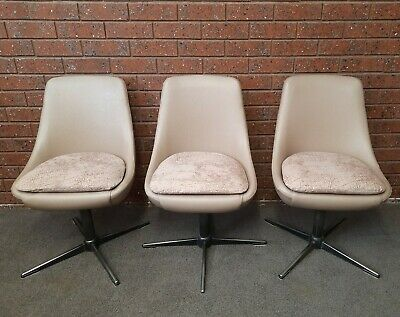 AU110 • Buy Retro Mid Century Funky Swivel Pod Dining Chairs- KENDALL? Selling As Eaches