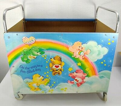£130.29 • Buy Vintage Care Bears Toy Cart Toy Box With WheelsAmerican Toy Furniture Company