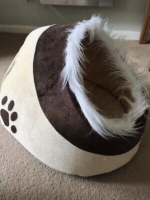 £5 • Buy Dog Igloo Bed Puppy Kitten Small Brown
