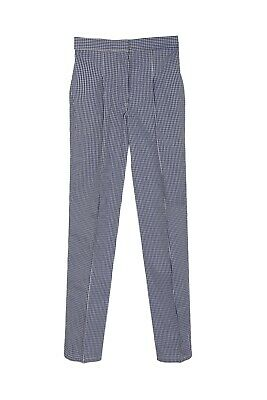 £9.99 • Buy Blue And White Houndstooth Check Chef Trousers Pants Uniform Unisex 22  - 50
