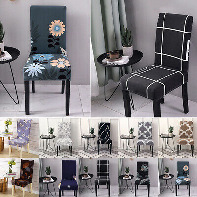 AU7.69 • Buy Elastic Dining Chair Seat Covers Spandex Slipcover Home Wedding Banquet Party