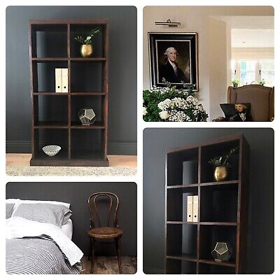 £450 • Buy BOOKCASE Lombok Colonial Solid Heavy Teak Wood Narrow Display  £1280 CAN DELIVER
