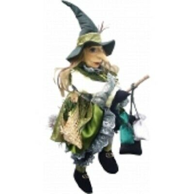 £33.50 • Buy Witches Of Pendle  Lucinda  Flying Witch Green 40 Cms Info Book Pagan/ Witch
