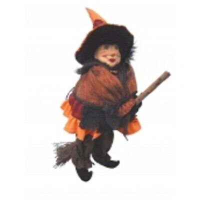 £24.95 • Buy Witches Of Pendle  Rosie  Flying Garden Witch Orange 30 Cms Info Book Pagan