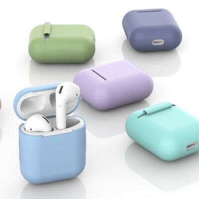 AU2.69 • Buy Silicone Protective Airpods Case Slim Skin Cover For Apple AirPod 1 2 Earphones