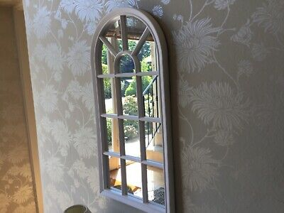 £19.99 • Buy Vintage Look Arched Window Style Wall Mounted Glass Mirror Panel  Home Decor