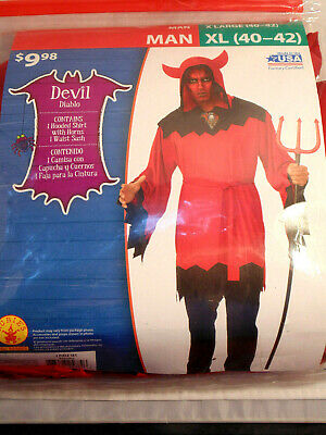 $7.98 • Buy Devil Diablo Costume Men Size XL (40-42) Complete Outfit Party Theater Cosplay