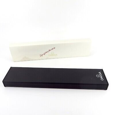 £49.99 • Buy Genuine Omega Watch Box Vintage Black Significant Moments Seamaster Speedmaster
