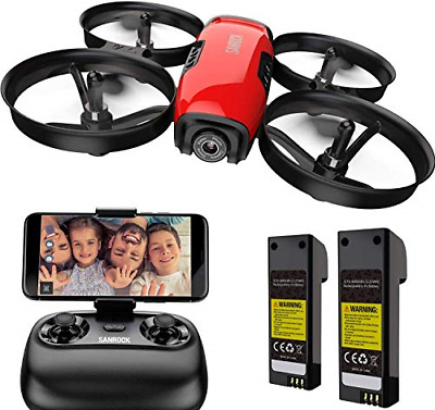 AU90.75 • Buy SANROCK U61W Drones For Kids With 720P HD Camera, Mini Drone WiFi FPV RC For For