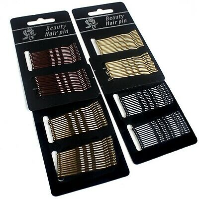 £1.49 • Buy Kirby Hair Grips Clips Bobby Waved Pins Slides Black Brown Gold Blonde Colours U