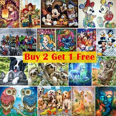£8.89 • Buy 5D Full Drill DIY Diamond Painting Art Embroidery Cross Stitch Mural Home Gift