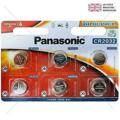 £1.99 • Buy 6 Panasonic CR2032 Lithium Coin Cell 2032 3V Battery Car Key Fobs Toys Remote