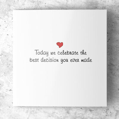 £3.19 • Buy Funny Romantic Anniversary Card - Love Best Decision - Wife Husband 1st 5th 10th
