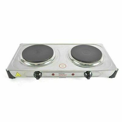 £29.95 • Buy 2000W Portable Electric Double Hot Plate Table Top Cooker Hob Stove Cooking New