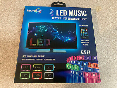 $9.98 • Buy Tzumi Sound-Activated LED Music TV Light Strip 6.5 Ft. With Remote Control Color