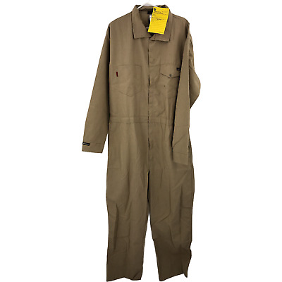 $59.99 • Buy Workrite FR Coveralls Mens 2XL XXL Cat 1 Flame Resistant Fire Brown Work