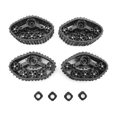 $18.24 • Buy 4pcs/set Military Truck Track Wheels Snow Tires Replacement Parts For RC Crawler