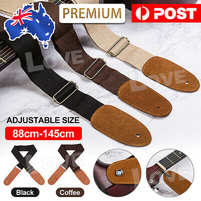 AU5.85 • Buy Adjustable Luxury Classic Soft Basses Electric Guitar Strap Leather Acoustic