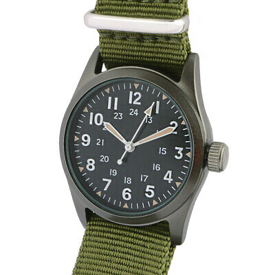 £62.95 • Buy US Army Or Air Force Vietnam Military Service Watch- The Grunt Wristwatch Boxed.