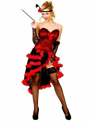 £18.99 • Buy Wicked Costumes Wild West Showgirl Saloon Burlesque Red Sexy Fancy Dress 10-12