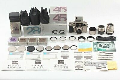 $ CDN3650.65 • Buy [ Almost UNUSED BOX ] Contax G2 + Zeiss 28mm 45mm 90mm 3Lens + TLA200 From JAPAN