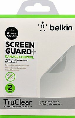 AU9.70 • Buy Belkin TruClear Screen Guard Protector Damaged Control For IPhone SE 5 5S 5C X 2