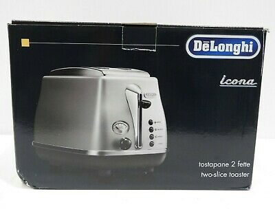 AU63.74 • Buy DeLonghi Stainless Steel Icona Toaster - CTO2003S