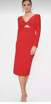 $ CDN51.76 • Buy Ladies Retro Cut Out Details Party Cocktail Special Occasion Midi Dress Size S