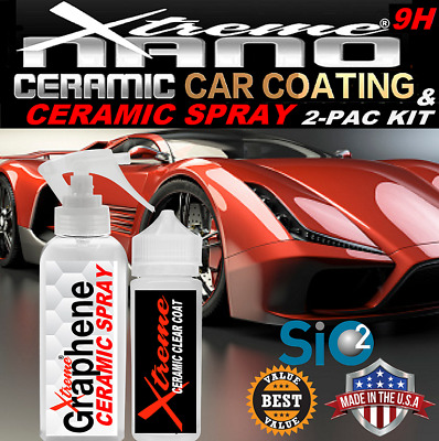 $26.95 • Buy Ceramic Car Coating Kit High Gloss Wet Look Sio2 Paint Protection 2 Pack Value