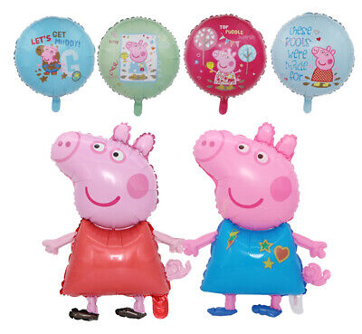 £7.25 • Buy Peppa Pig Birthday Balloons Pink Pig Party George Pig Balloon Decorations
