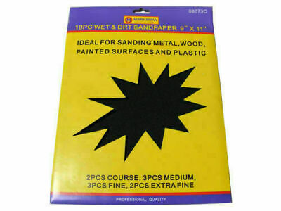 £2.99 • Buy Sand Paper Wet & Dry Assorted Emery Fine Medium Fine Extra Coarse Sheets 9 X11