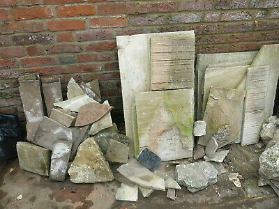 £50 • Buy Pile Of Crazy Paving Stones, Approx 2 Square Metres, Mix Of Indian / York Stone