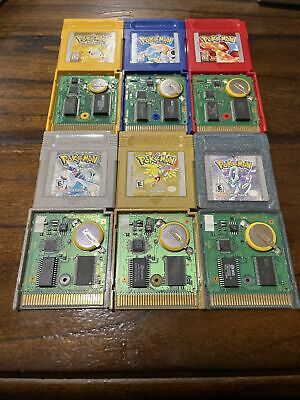 $379.99 • Buy Pokemon Red+Yellow+Blue (Nintendo GameBoy) Gold+Silver+Crystal (Color) Authentic