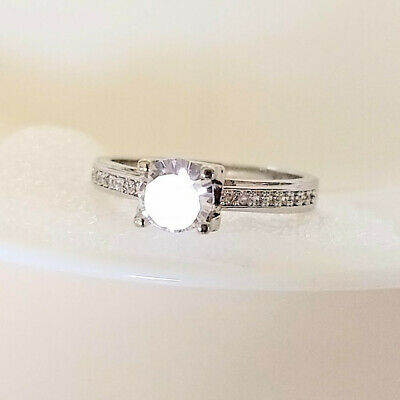 $ CDN30.21 • Buy QVC Diamonique Epiphany Platinum Clad Cathedral Setting Ring Size 9 - Never Worn