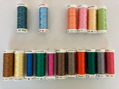 $23.75 • Buy Lot Of 17 Sulky Rayon Machine Embroidery Thread Spools -mostly 40wt 250YD