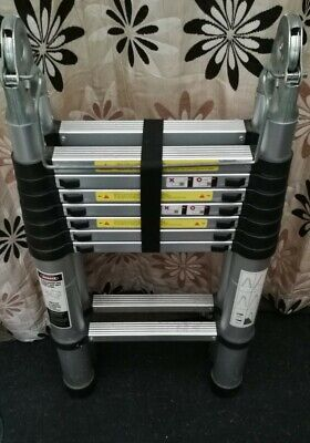 £80 • Buy 2.6M-5M Telescopic Folding Ladder Extendable Collapsible Securing Ladders UK